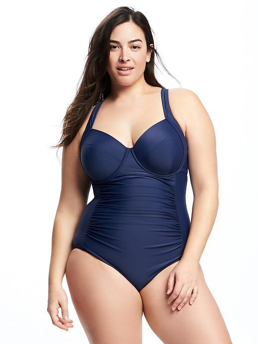 Old Navy Smooth & Slim Underwire Plus-Size Swimsuit