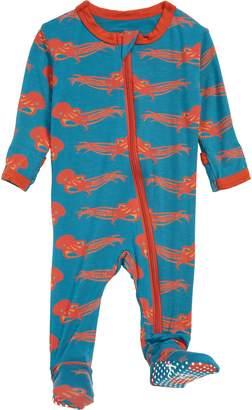 Kickee Pants Octopus Print Footie