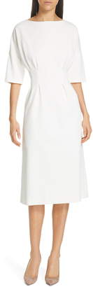 Judith & Charles Symbol Box Pleat Detail Midi Dress