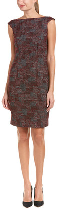 Donna Degnan Wool-Blend Sheath Dress