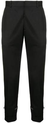 Alexander McQueen zipper detail trousers