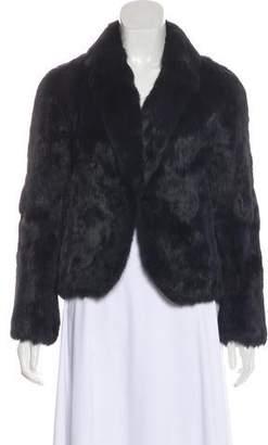 Haute Hippie Fur Long Sleeve Jacket