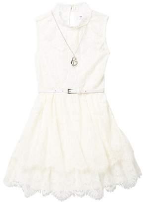 fa834c2824dd2 Beautees Sleeveless Lace Dress (Big Girls)