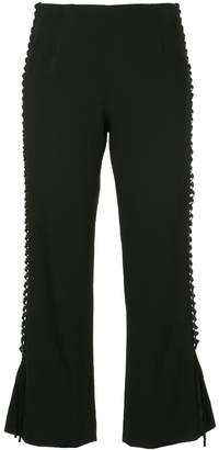 Jonathan Simkhai lace-up cropped pants