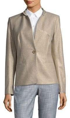 Lafayette 148 New York Tristan Taupe Jacket