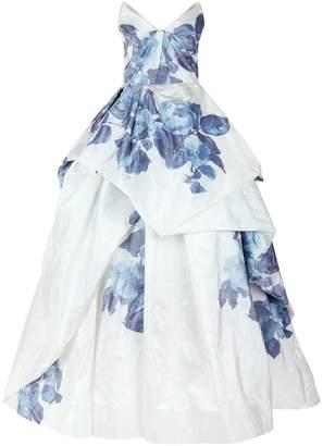 Monique Lhuillier Floral Print Ball Gown