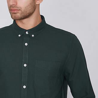 Mens Green long sleeve oxford shirt