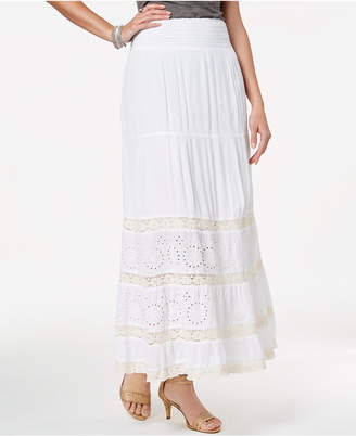 Style&Co. Style & Co Petite Crochet-Trim Maxi Skirt, Created for Macy's