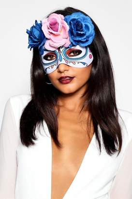 boohoo Floral Candy Skull Mask