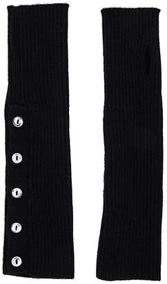 Autumn Cashmere Buttoned Rib Arm Warmers in Black. $110 thestylecure.com