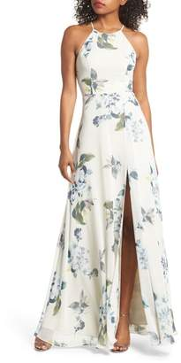 Jenny Yoo Collection Kayla Ohana Print Gown
