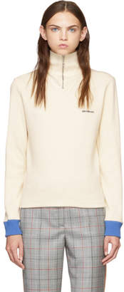 Calvin Klein White Half-Zip Sweater