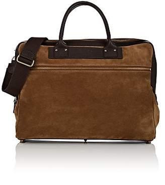 Felisi Men's Leather-Trimmed Suede Briefcase - Brown