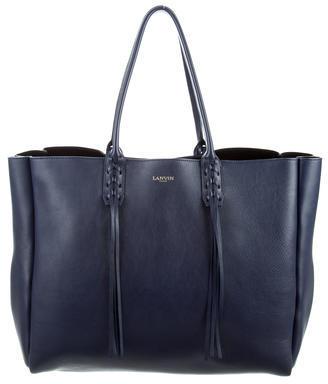 Lanvin Tassel-Handle Extra-Large Shopper $1,195 thestylecure.com