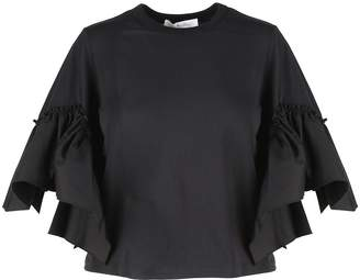 See by Chloe Bell-sleeve Cotton-jersey T-shirt