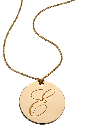 Kendra Phillip Large Reversible Initial Gold Plated Necklace
