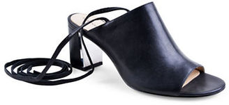 Adrienne Vittadini Panak Calf Leather Sandals $105 thestylecure.com