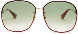 Gucci Glitter-embellished sunglasses