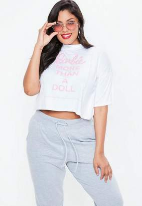 Missguided Barbie X Plus Size White Barbie Graphic T Shirt