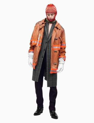 Calvin Klein distressed fireman jacket