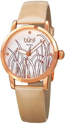 Burgi Women's Diamond Watch
