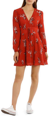 Miss Shop Midi Peasant Dress