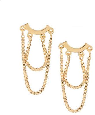 Trina Turk Chain Drop Stud Earrings