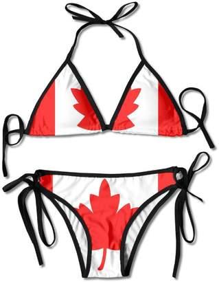 2f8deedb8a best bags Sexy Body Bikini Canadian Flag Women s Halterneck Top And Sexy  G-string Bikini