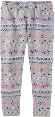 Osh Kosh Oshkosh Bgosh Girls 4-8 Print Leggings