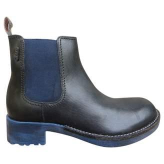 Diesel Leather biker boots