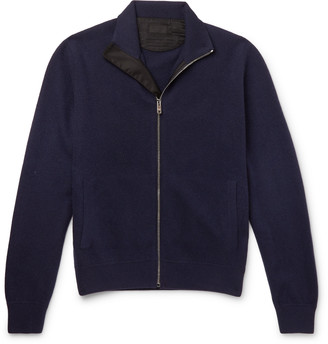 Prada Virgin Wool And Cashmere-Blend Zip-Up Cardigan
