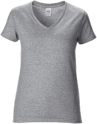 Gildan Womens/Ladies Premium Cotton V-Neck T-Shirt (2XL)