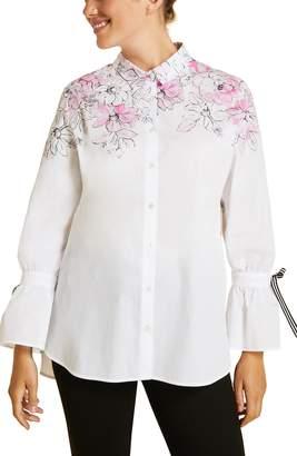 Marina Rinaldi Fascia Poet Sleeve Poplin Shirt