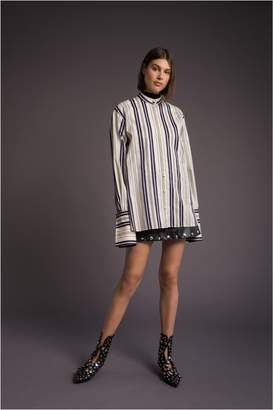 Sonia Rykiel Wide Popline Cotton Blouse