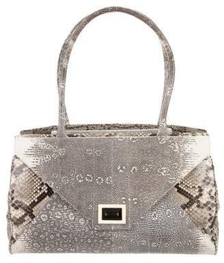 Kara Ross Lizard & Python Shoulder Bag