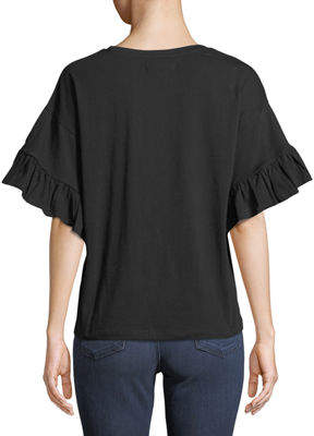 philosophy Ruffle-Sleeve Crewneck Tee