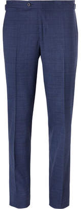Thom Sweeney Blue Slim-Fit Prince Of Wales Checked Stretch-Wool Suit Trousers