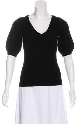 Ralph Lauren Black Label Cable Knit Cashmere Top