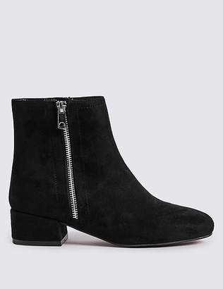 Marks and Spencer Block Heel Side Zip Ankle Boots