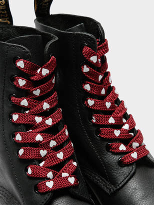 b091902b62 Dr. Martens Unisex Heart 8-10 Eye Laces in Red Oxblood