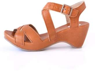 Khrio Cognac Leather Wedge