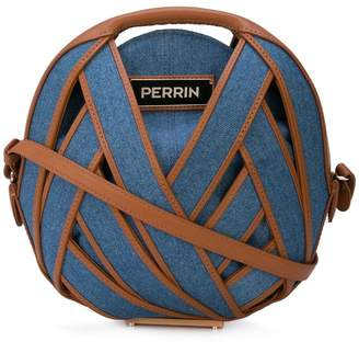 e98d73f3f2 Perrin Paris round denim woven crossbody bag