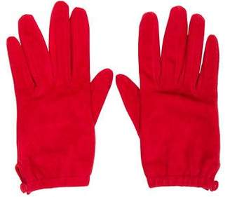 Prada Suede Silk-Lined Gloves