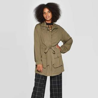 Who What Wear Women's Exagerated Long Sleeve Collared Jacket - Who What WearTM Green