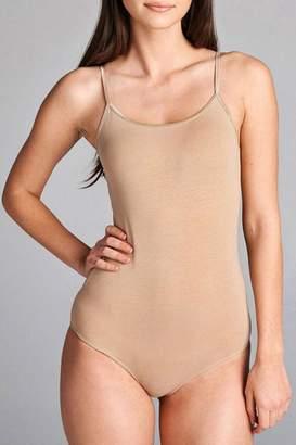Active Basic Spaghetti Fashion Bodysuit