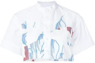Julien David printed cropped shirt