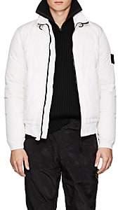 Stone Island Men's Garment-Dyed Down Puffer Jacket-White