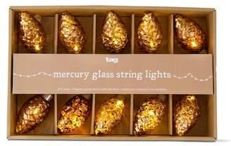 tag Mercury Glass Pinecone LED String Lights