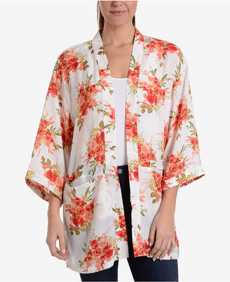 NY Collection Floral-Print Blazer