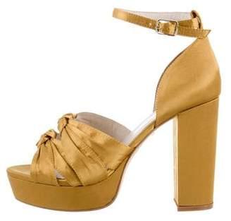 Raye Satin Platform Sandals